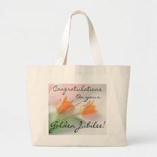 "Catholic Nun ""Golden Jubilee"" Cards & Gifts Large Tote Bag"