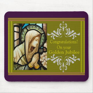 "Catholic Nun ""Golden Jubilee"" Cards & Gifts Mouse Pad"