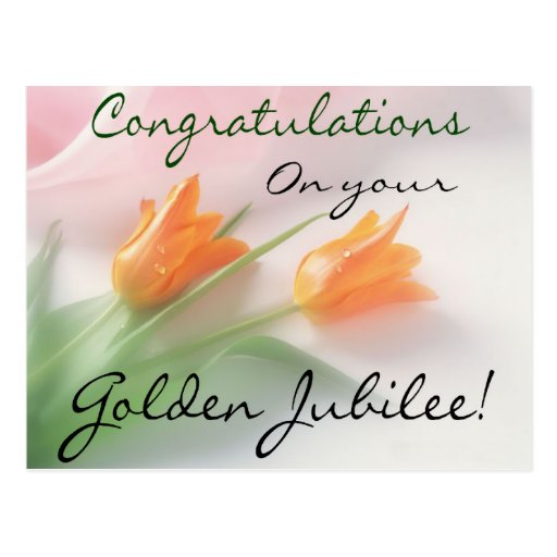 "Catholic Nun ""Golden Jubilee"" Cards & Gifts Postcard"