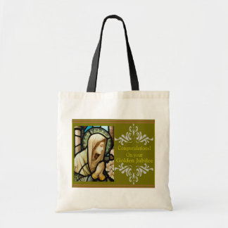 """Catholic Nun """"Golden Jubilee"""" Cards & Gifts Tote Bag"""