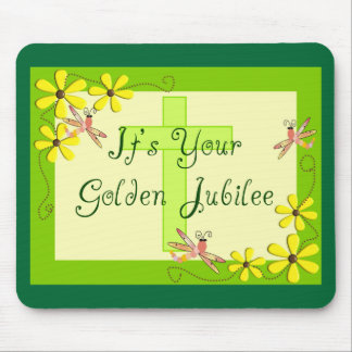 Catholic Nun Golden Jubilee Cards Mousepads