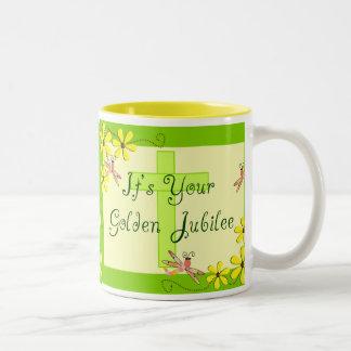 Catholic Nun Golden Jubilee Cards Two-Tone Coffee Mug