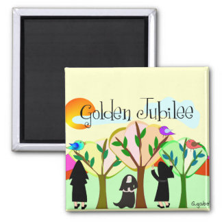 Catholic Nun Golden Jubilee Gifts 2 Inch Square Magnet