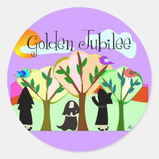 Catholic Nun Golden Jubilee Gifts Classic Round Sticker