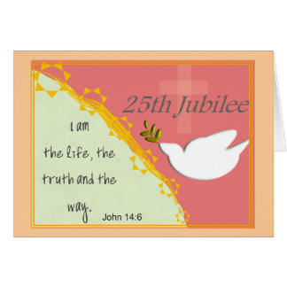 "Catholic Nun ""Silver Jubilee"" 25th Jubilee Card"