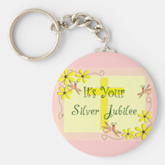 Catholic Nun Silver Jubilee Cards, Mugs, Tote Bags Basic Round Button Keychain