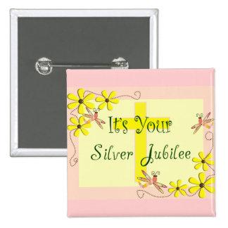 Catholic Nun Silver Jubilee Cards, Mugs, Tote Bags Button