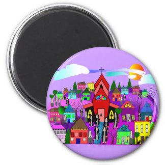 "Catholic Nuns Art ""Heading to Church"" Magnet"