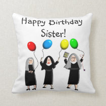 Catholic Nuns Birthday Pillow
