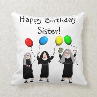 Catholic Nuns Birthday Pillow