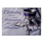 Catholic Ordination to Diaconate Chalice Rosary Greeting Card