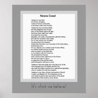 Catholic Poster Nicene Creed Christian Credo