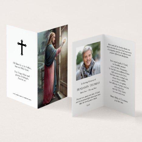 Catholic Prayer Cards | Jesus Knocking