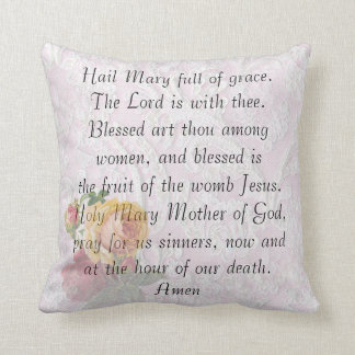 "Catholic Prayer ""Hail Mary"" Pillow"