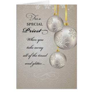 Catholic Priest Christmas, Elegant Card