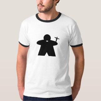 Catholic Priest Meeple men's t shirt