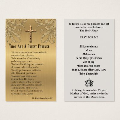 CATHOLIC PRIEST ORDINATION  ANNIVERSARY HOLY CARDS