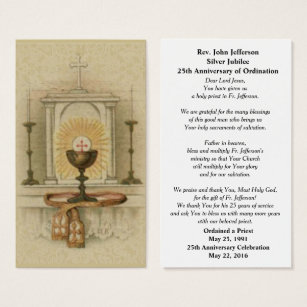 Catholic business cards templates zazzle catholic priest ordination tabernacle prayer card colourmoves