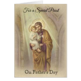 Catholic Priest  St. Joseph Jesus Father's Day Card