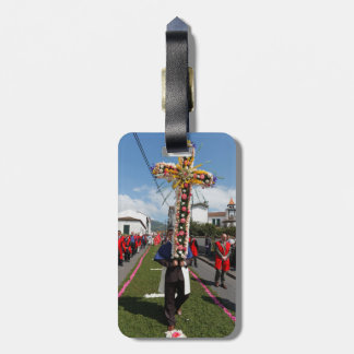 Catholic procession in the Azores Luggage Tag