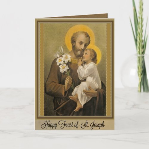 Catholic Religious St. Joseph Feast Prayer Card