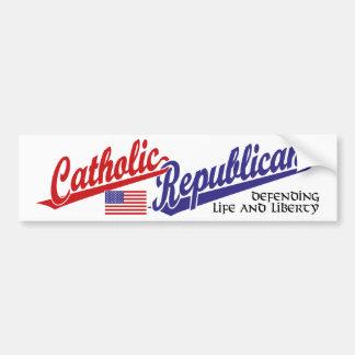 Catholic Republican Car Bumper Sticker