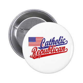 Catholic Republican Pinback Button