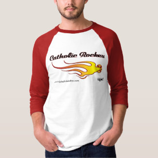 Catholic Rockers - black lettering T-Shirt