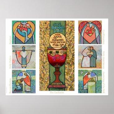JenNortonArtStudio Catholic Sacraments Classroom Poster