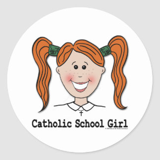 Catholic School Girl Tara Sticker
