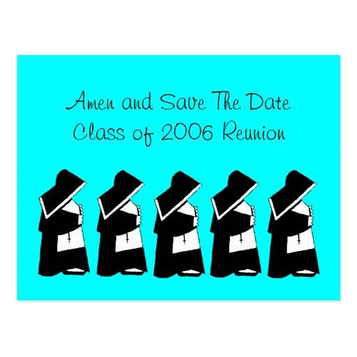 Catholic School Reunion Save The Date Nun Custom Postcard