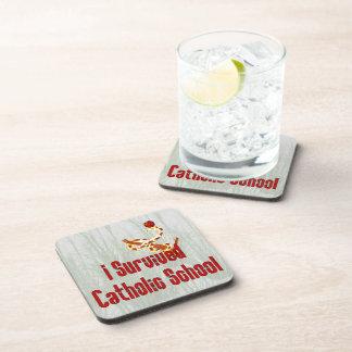 Catholic School Survivor Beverage Coaster
