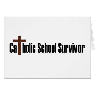 Catholic School Survivor Card