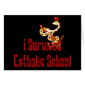 Catholic School Survivor Card