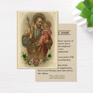 Catholic St. Joseph Memorare Prayer Holy Cards