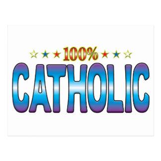Catholic Star Tag v2 Post Card