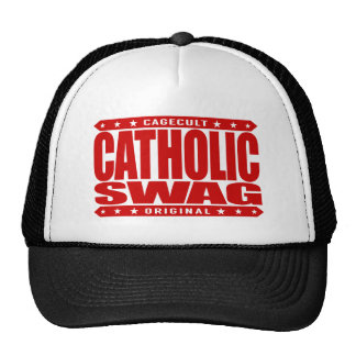 CATHOLIC SWAG - God Loves Those Who Fight Haters Trucker Hat