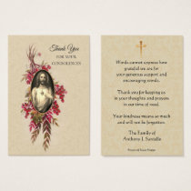 Catholic Sympathy Memorial Thank You Holy Card