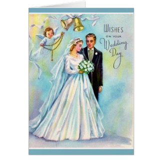 Catholic Wedding Card Rosary Bride Groom Angel