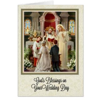 Catholic Wedding Card W Scripture Verse