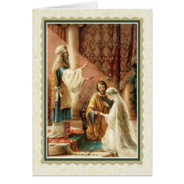 ShowerOfRoses Catholic Wedding Card w/scripture verse