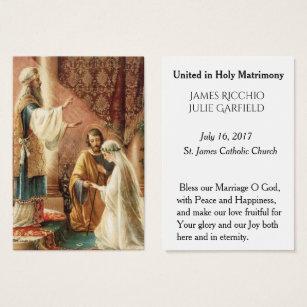 Catholic business cards templates zazzle catholic wedding favor holy card bride groom colourmoves