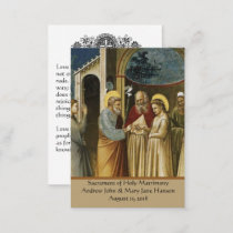 Catholic Wedding Prayer Favor Holy Card