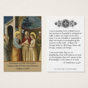 Catholic business cards templates zazzle catholic wedding prayer favor holy card colourmoves