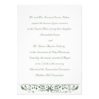 Catholic Wedding Set Invitation Template CC