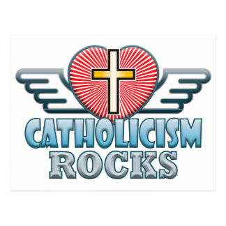 Catholicism Rocks Postcard