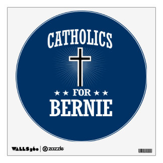 CATHOLICS FOR BERNIE SANDERS WALL DECAL