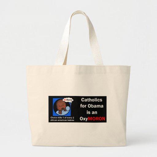 Catholics for Obama OxyMORON Canvas Bag