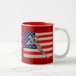 Catholics for Romney 2012 Papal Crucifix USA flag  Coffee Mug