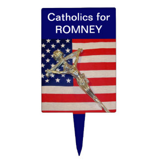 Catholics for ROMNEY Food Pick Cake Toppers